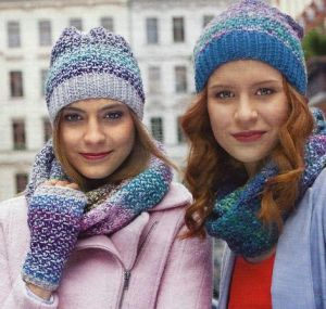 Hat scarf and gloves without fingers