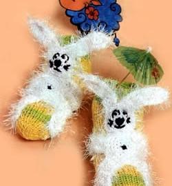 Kaniner lykkelig sokker