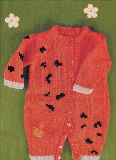 Overalls with black spots