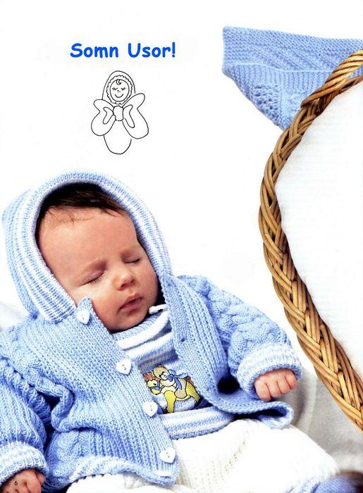 blaue Jacke für verschlafene kleine