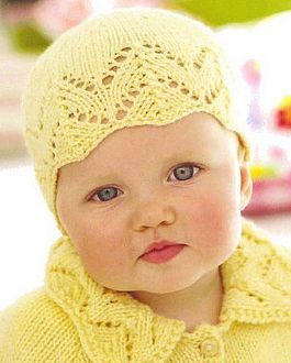 Yellow knitted Hat headpiece