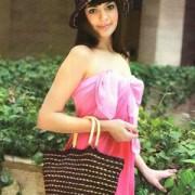 eyelet hat and bag