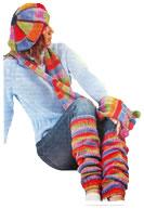 Barett, Draht-Schal und Leggings Gradienten