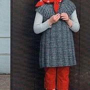 rochita gri cu cocheta rotunda