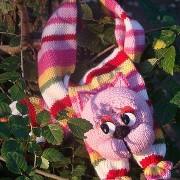Knitting scarf pink Pagtakhan