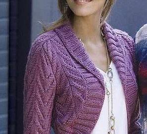 Purple bolero for chilly summer days