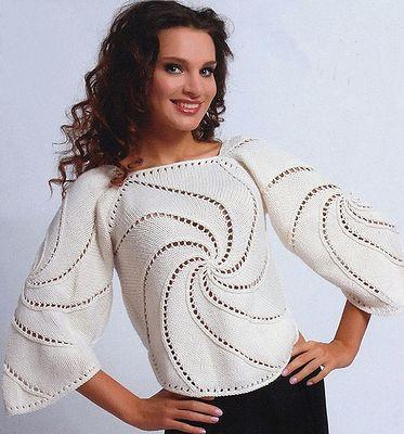 Pulover din motive tricotate
