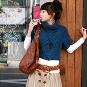 Kimono Pullover with rhombs