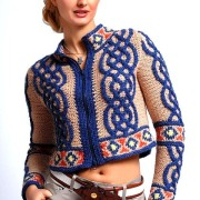 Jacheta stil etno cu fermoar