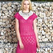 Rosa SNÖRHÅL klänning