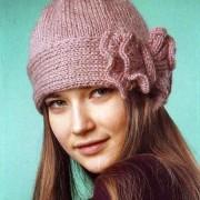 caciula retro tricotata