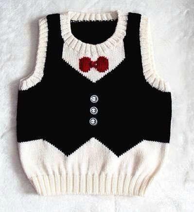 vest with bow tie