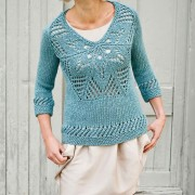 knitting sweaters with floral motif