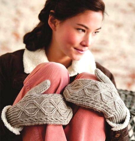 Handschuhe grau-Mädchen