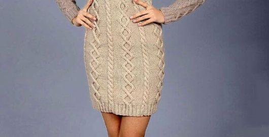 Aran stickad klänning mönster