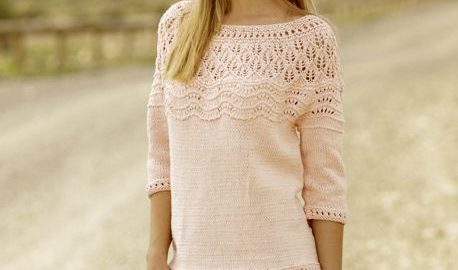 Aprikos-farget genser