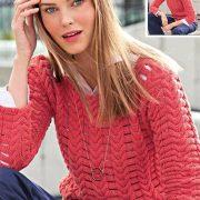 Röd korall tröja