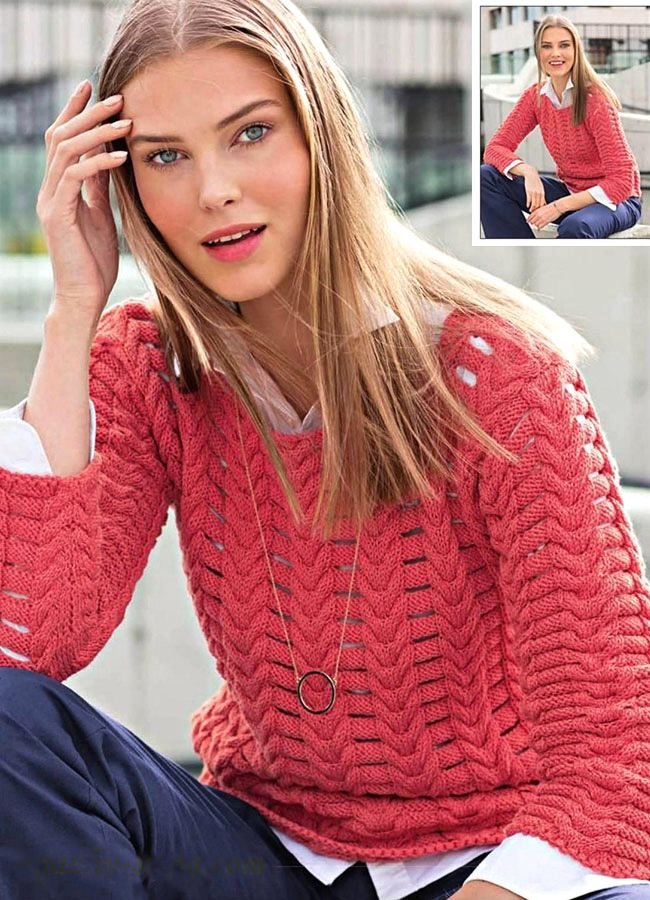 Red coral sweater
