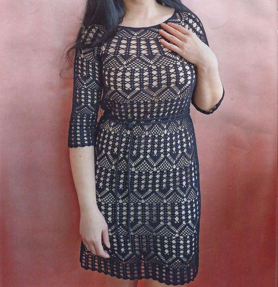 Túnica vestido de crochet